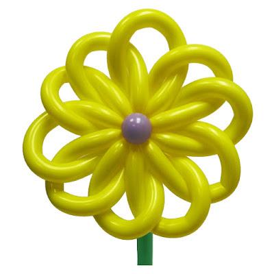 цветок из воздушных шаров - инструкция по изготовлению