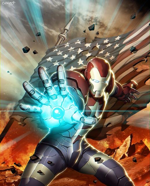 iron man,anime wallpaper,Genzoman