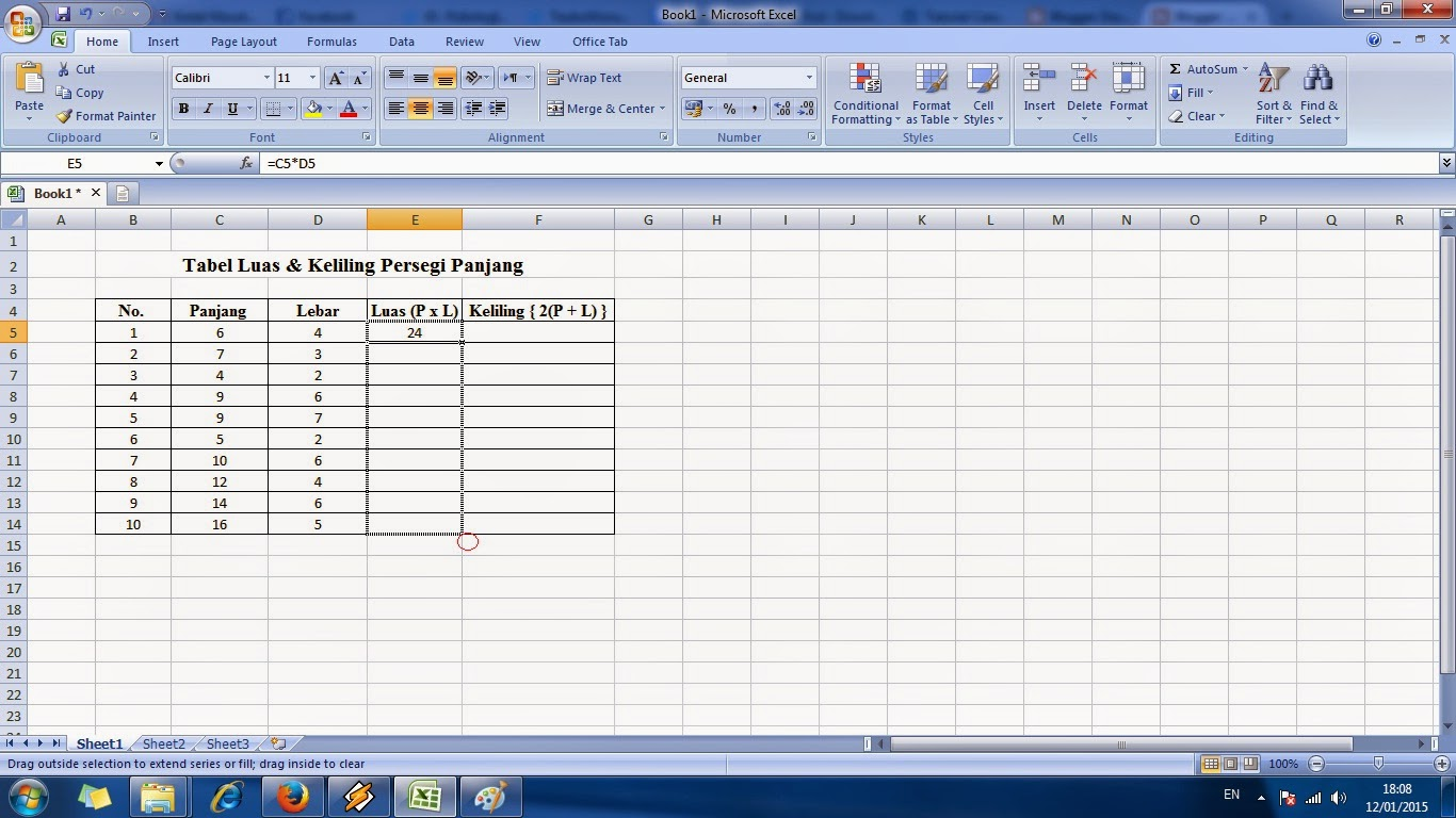 cara, menggunakan, rumus, microsoft, excel, tabel