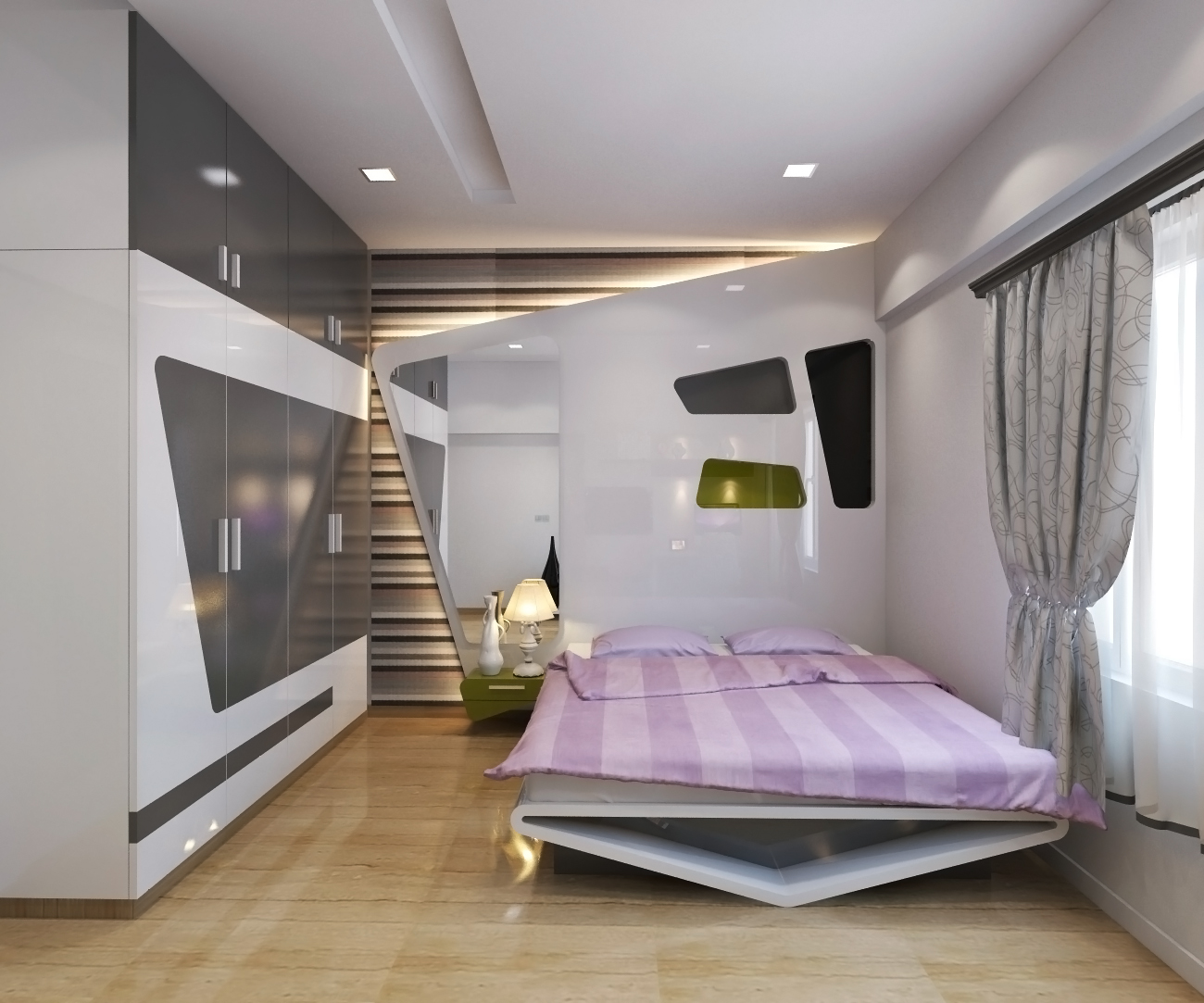 hi all in free time sunday recently done master bedroom software used 3d max vray ps - Bedroom 3d Design