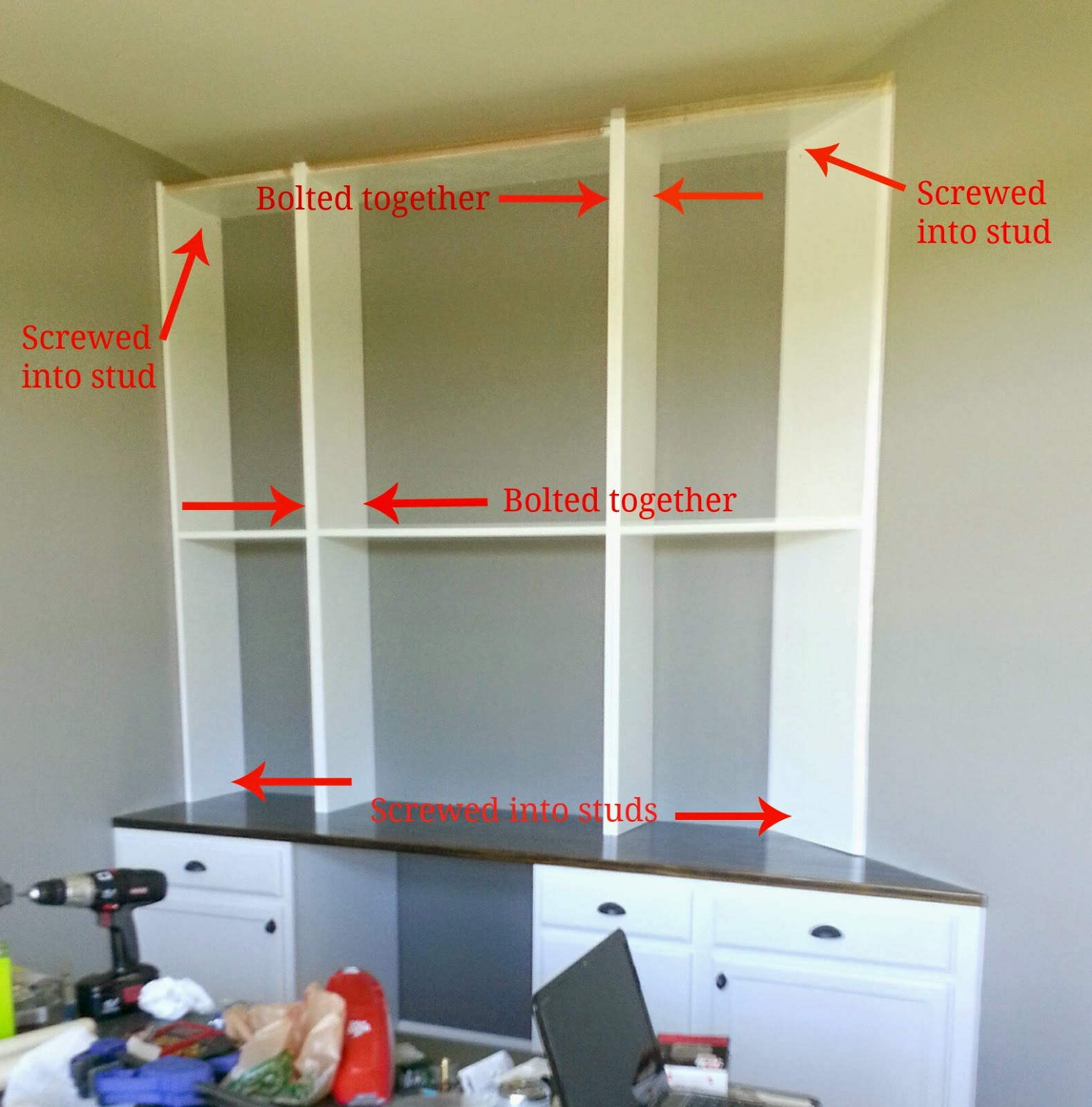 Built-In Desk and Bookshelves {How-to and Source List} | Moving to the  Country
