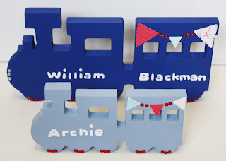 Personalised Handmade Wooden Trains - Gifts Ornament Decoration