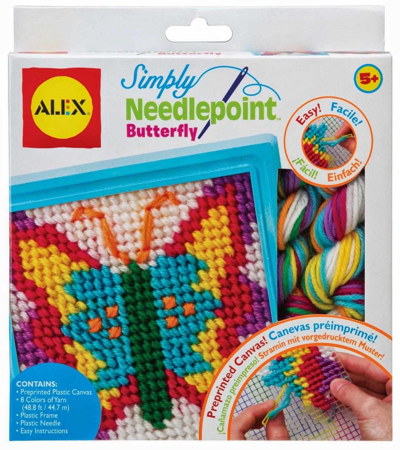 Alex needlepoint butterfly