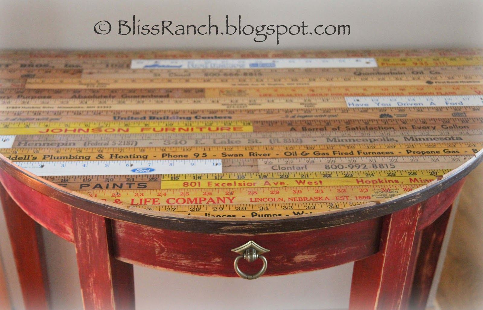Yardstick Table By Bliss Ranch Refresh Restyle - Cool table tops