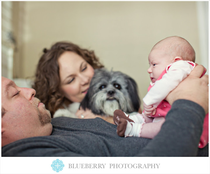 East Bay cutest Newborn baby family photography session black white