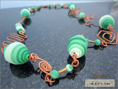 Green copper necklace