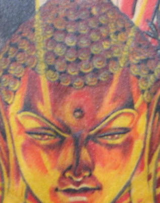 Buddha tattoo close-up