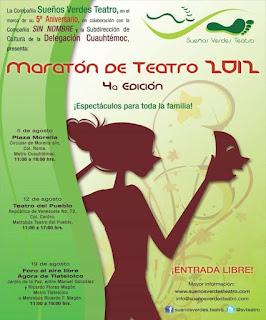 Maratón de Teatro para celebrar 5 años de la Compañía Sueños Verdes Teatro
