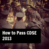 how to pass CDSE 2013