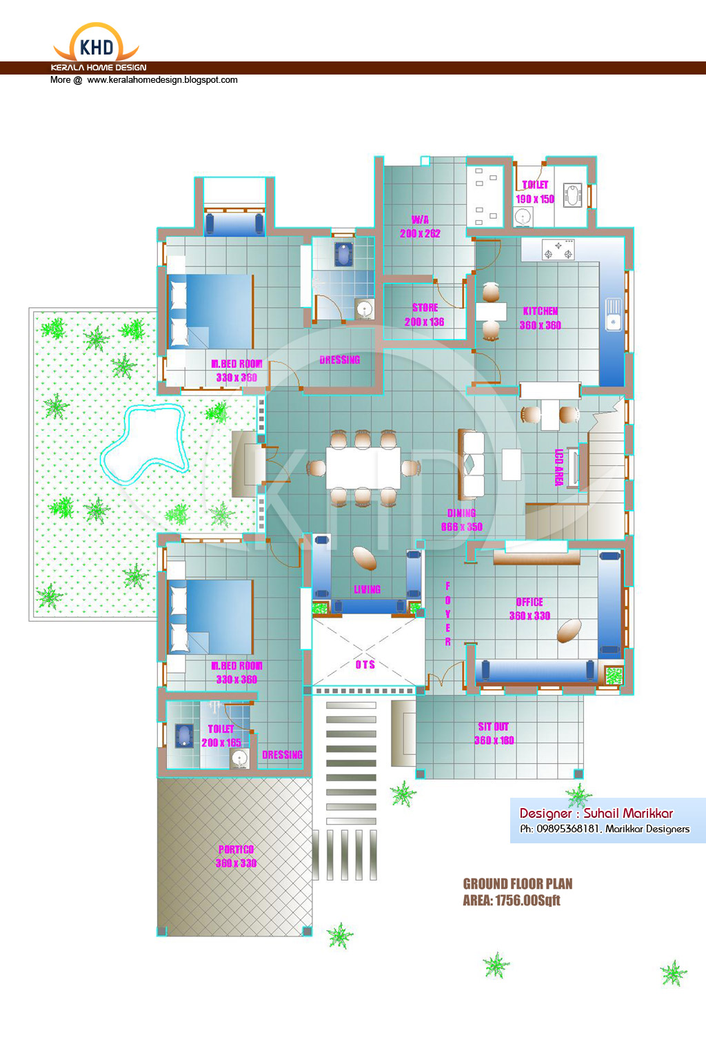 Ground Floor Elevation Journal : Home plan and elevation sq ft appliance