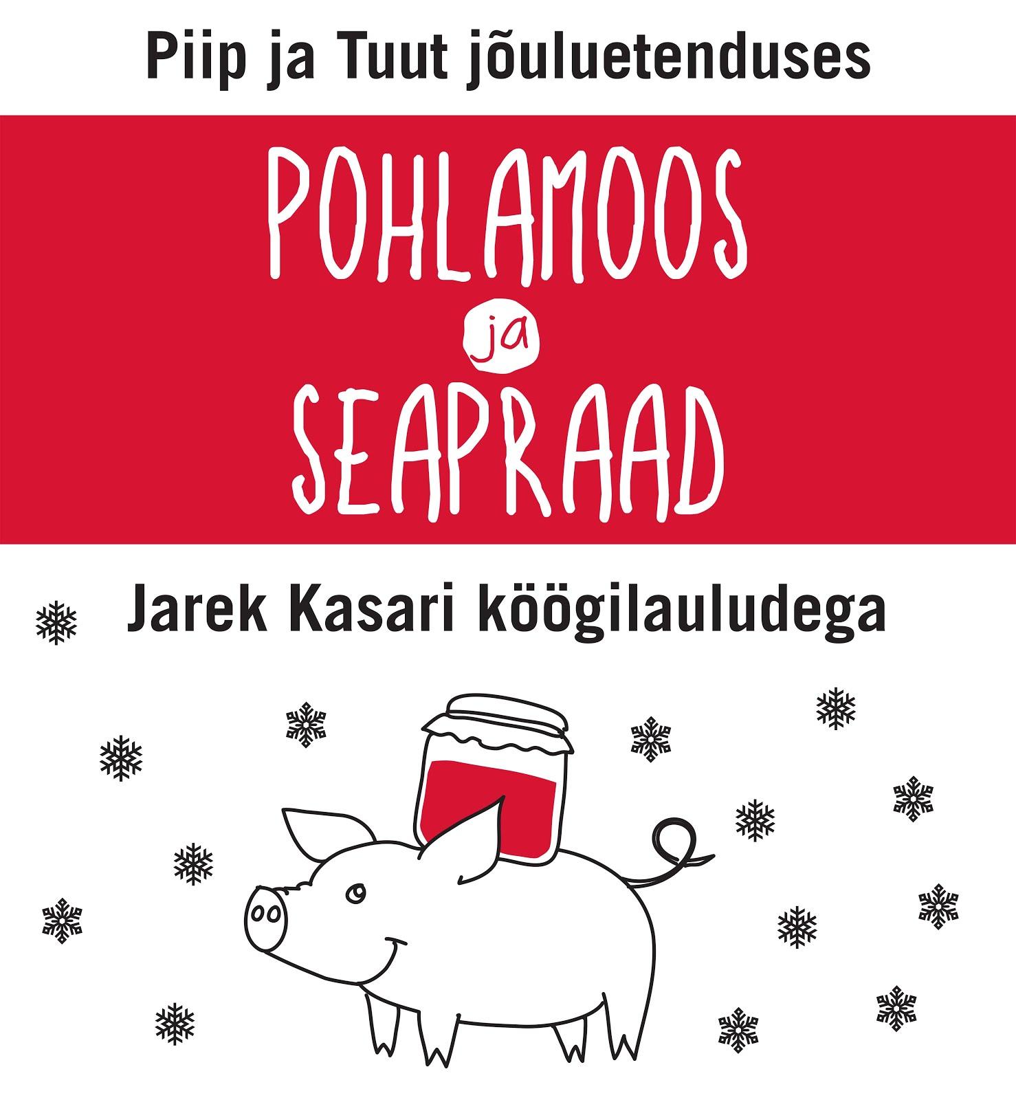 PIIP JA TUUT jõuluetenduses KUMU auditooriumis 19-23.dets