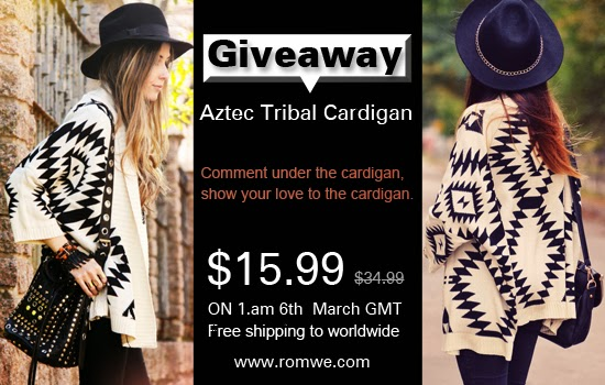 Aztec Tribal Print Cardigan Giveaway