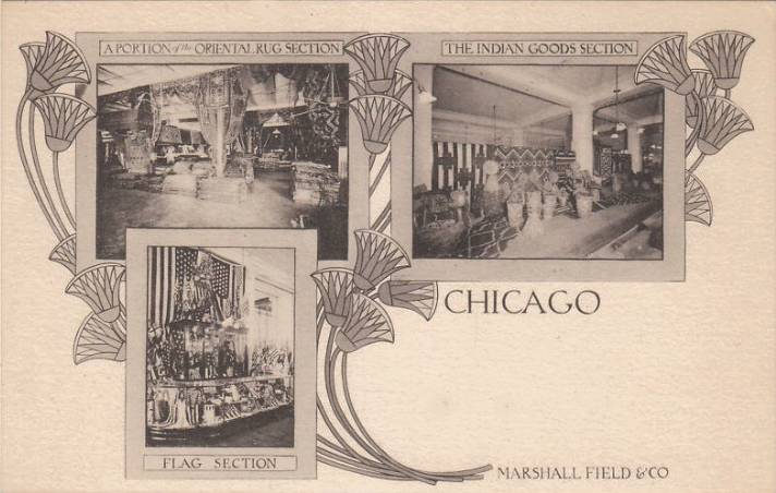 postcard   chicago   marshall