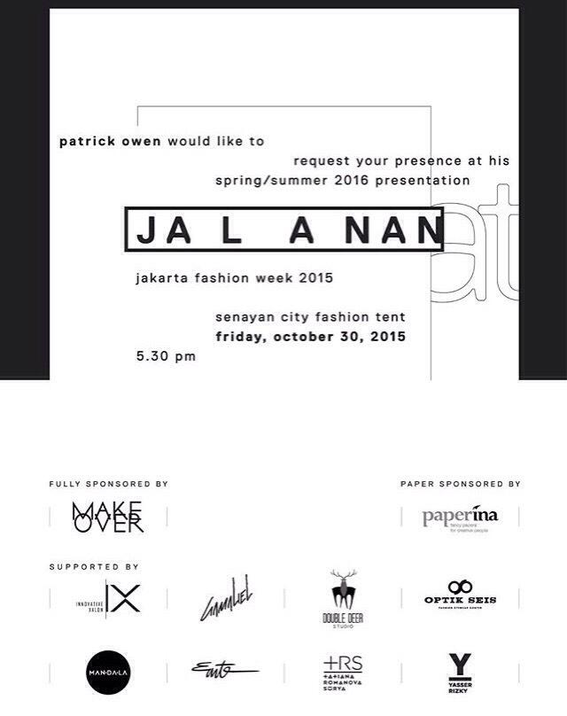 Jakarta fashion week 2016 aqua passion invitation card back stopboris Images