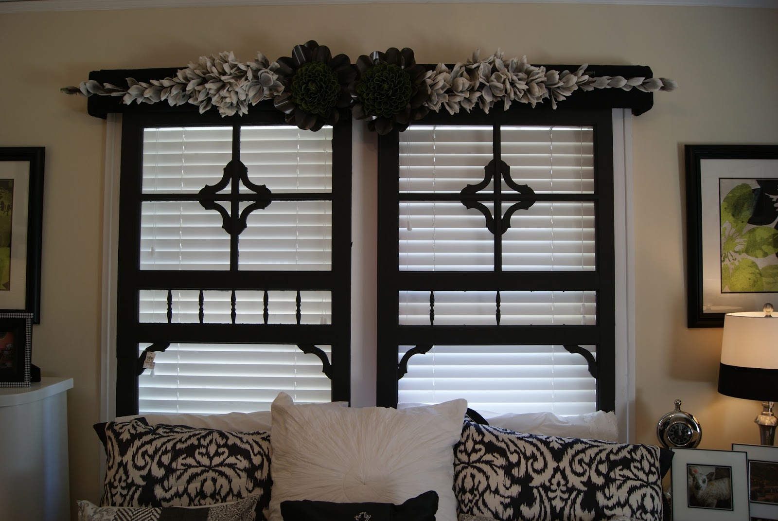 Hung Inside Frames As Wall Decor Outdoor Garden Bench Painted Black. Full resolution  snapshot, nominally Width 1600 Height 1071 pixels, snapshot with #8A6541.