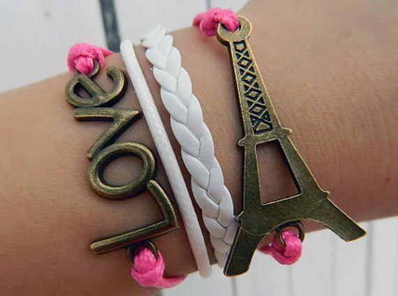 Pulsera Love y Torre Eiffel