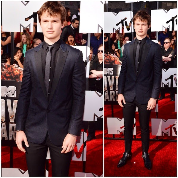 Ansel Elgort in Saint Laurent - 2014 MTV Movie Awards
