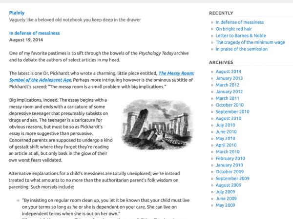 Plainly WordPress Theme