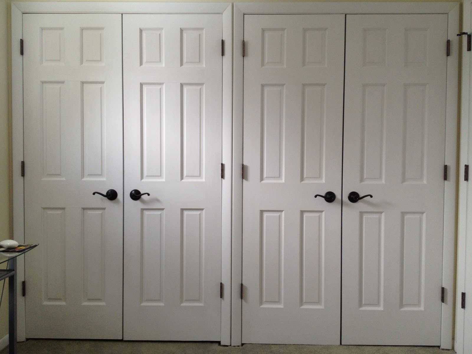 and here are the new closet doors installed in the guest room