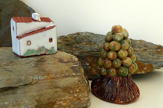 Artesanato Com Tecido De Guarda Chuva ~ Casas da Lous u00e3 (2) Artesanato tradicional de cer u00e2mica em barro Perspetivas do olhar