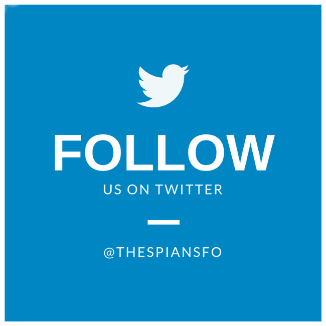 Follow me on twitter @thespiansfo