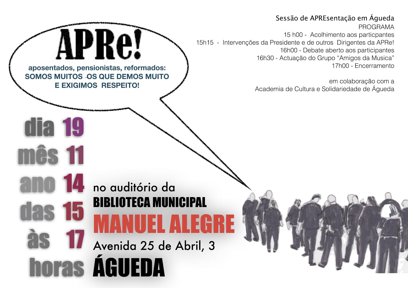 Águeda, reunião de divulgação APRe!
