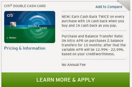 New Citi Double Cash Card