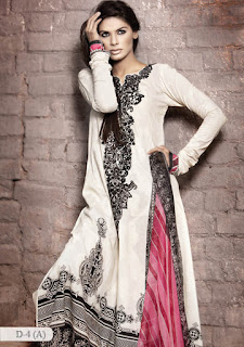 Pakistani white salwar kameez