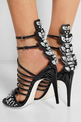 Fendi High Heeled Embellished Strappy High Heels