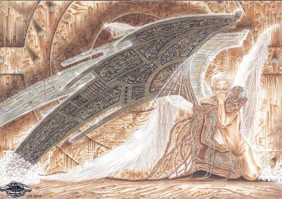 El Ángel Caído (original de Luis Royo)