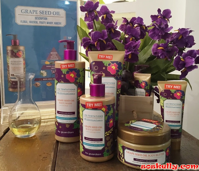 Les Tentations Méditerranéennes, Bath & Body Care, Rose Waterm Mimosa Water, Grape Seed Oil