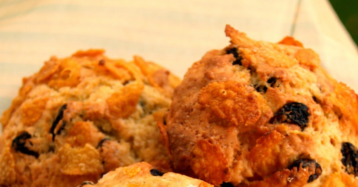 Risultati immagini per biscotti con corn flakes e uvetta