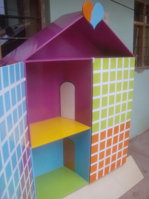 como pintar casa de muecas