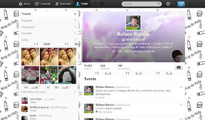 IMAGEM: Print do perfil de Rafael, editor do Arruma Blog