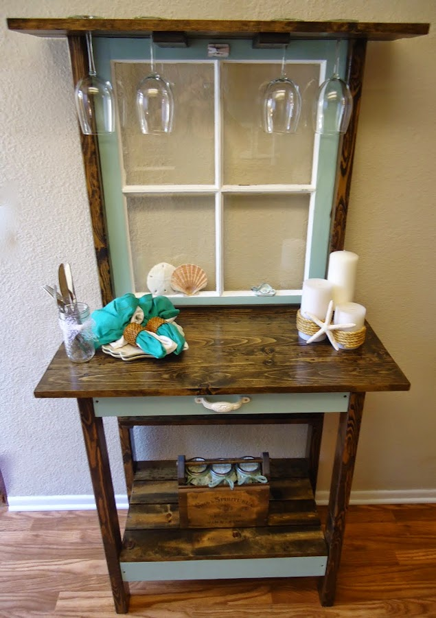 Vintage 4-Pane Window Accent Table - SOLD