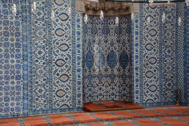 Rustem Pasa Mosque Istanbul Iznik Tiles