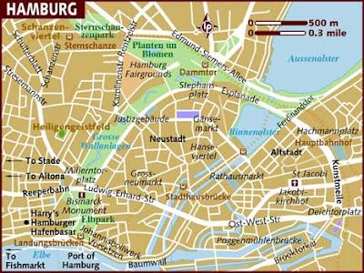 Hamburgo Mapa de Ciudades