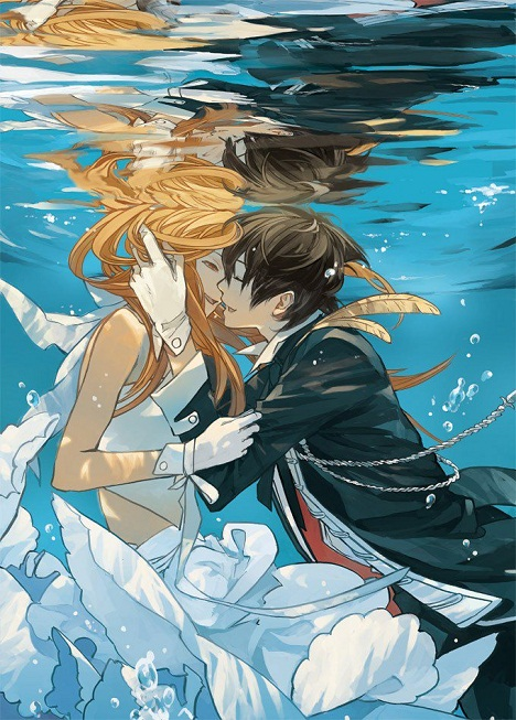 Asuna and Kirito can do the underwater thing, too.