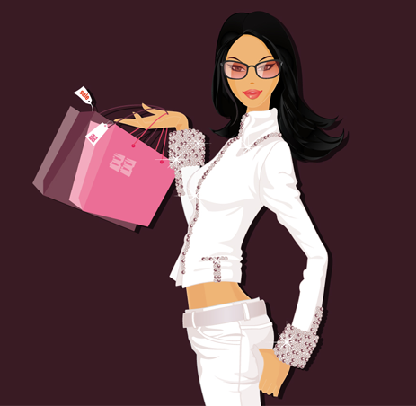 NEW SHOPHING GIRL VECTOR