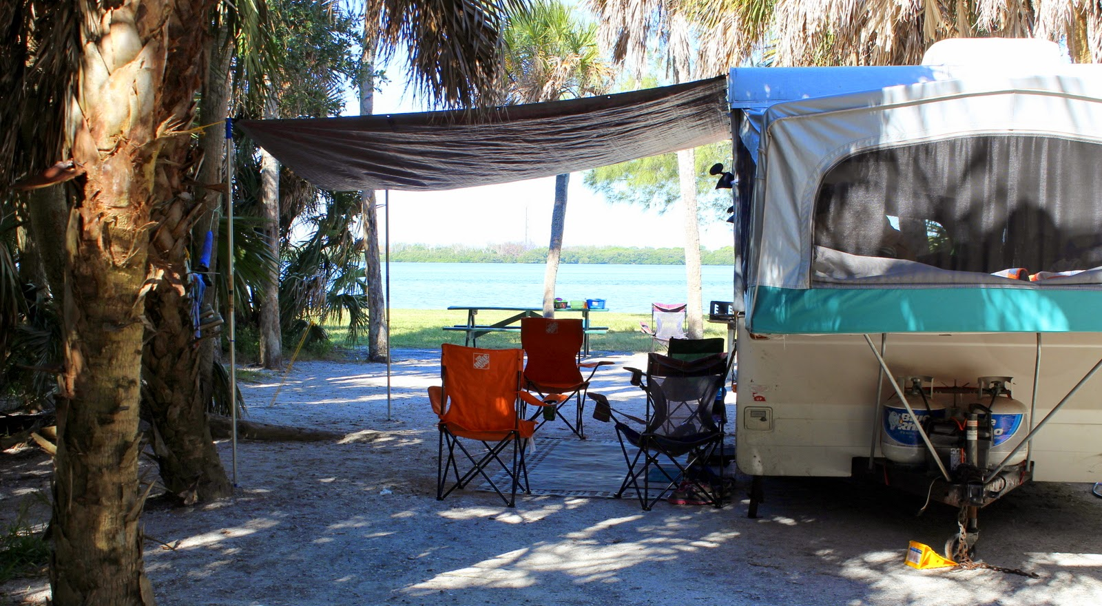 DIY inexpensive Pop Up camper awning