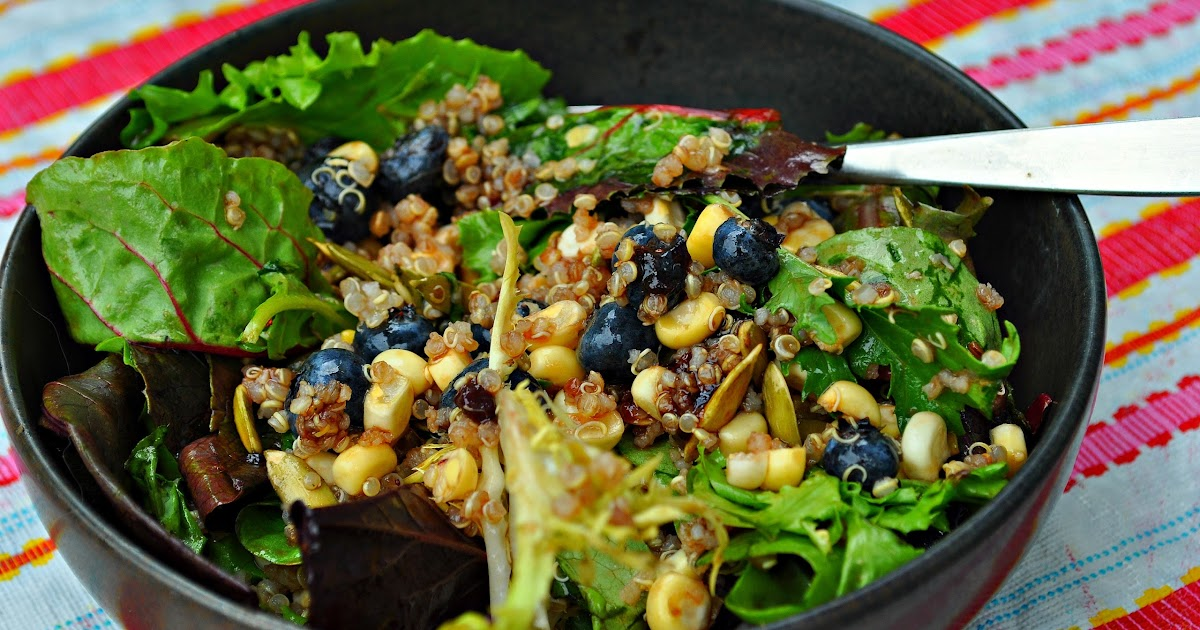 Blueberry Quinoa Salad with Blueberry Balsamic Vinaigrette ~ Kim's ...