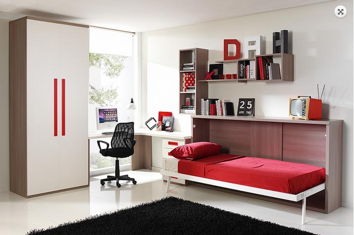 Wall beds ecuador camas abatibles la soluci n mas - Aprovechar espacio habitacion pequena ...