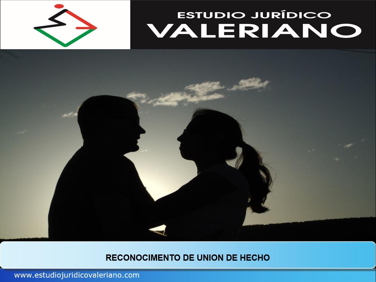 RECONOCIMIENTO DE UNION DE HECHO
