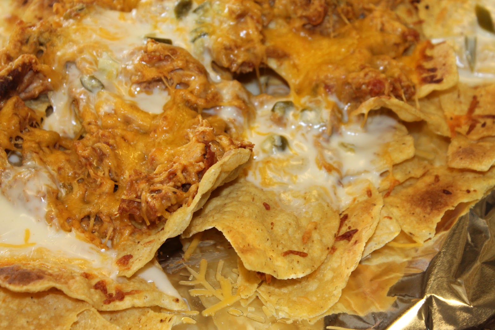 He Stole My Heart So I Stole His Last Name: Spicy Chicken Nachos