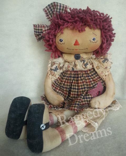 Raggedy Annie Cream Reindeer Dress