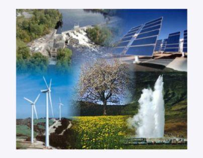 Todos os tipos de energias renováveis