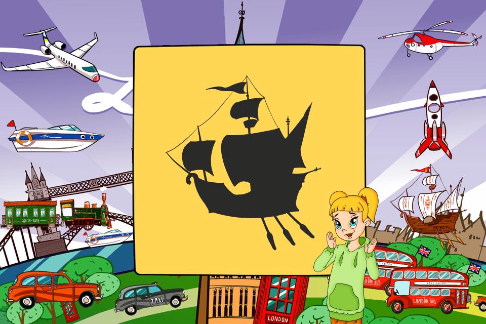 приложение для детей учим русский язык: транспорт