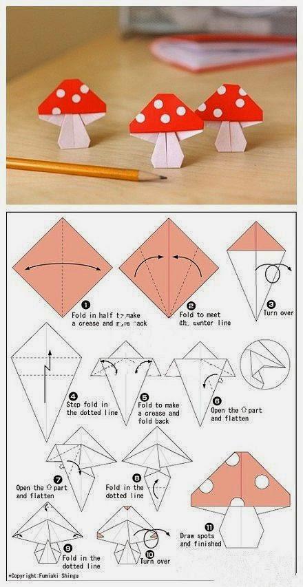 Как сделать чертеж гриба