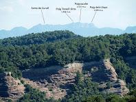 El Puigsacalm i voltants des de la Punta del Serrat del Vent