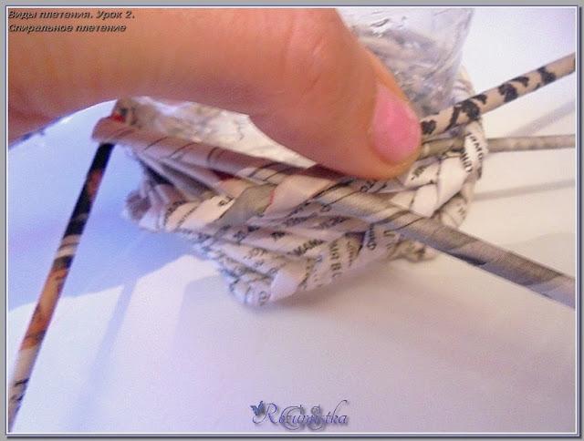 плетение кувшина спиралью